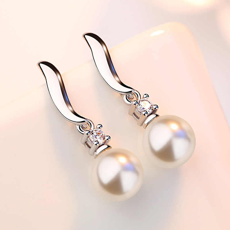 XIYANIKE 925 Sterling Silver Freshwater Pearls Stud Earrings For Women Gift Sterling-silver-jewelry Boucle d'oreille VES6200