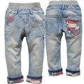 3519 мягкие детские джинсы штаны детей случайные БРЮКИ весна осень брюки для мальчиков детские джинсы детская одежда мальчик