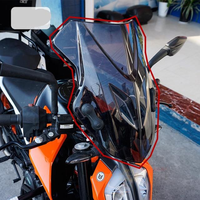 Motorbike For Ktm Duke 390 2017 2018 Duke390 Windscreen Windshield Shield Screen With Bracket