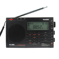Бесплатная Доставка TECSUN PL 660 FM Стерео LW MV SW SSB AIR PLL Радиоприемник
