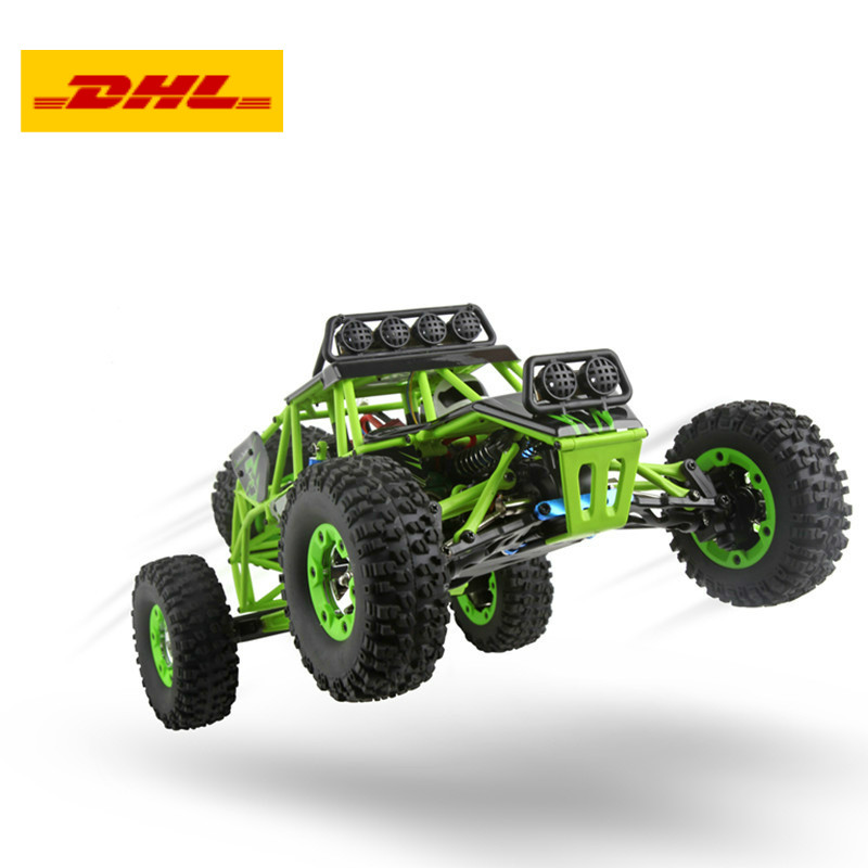 12428 RC Car 50KM/H 1:12 4 WD Crawler 2.4G High Speed RC Off-road Car With LED Light RTR 05033 2017 new arrival a333 1 12 2wd 35km h high speed off road rc car with 390 brushed motor dirt bike toys 10 mins play time