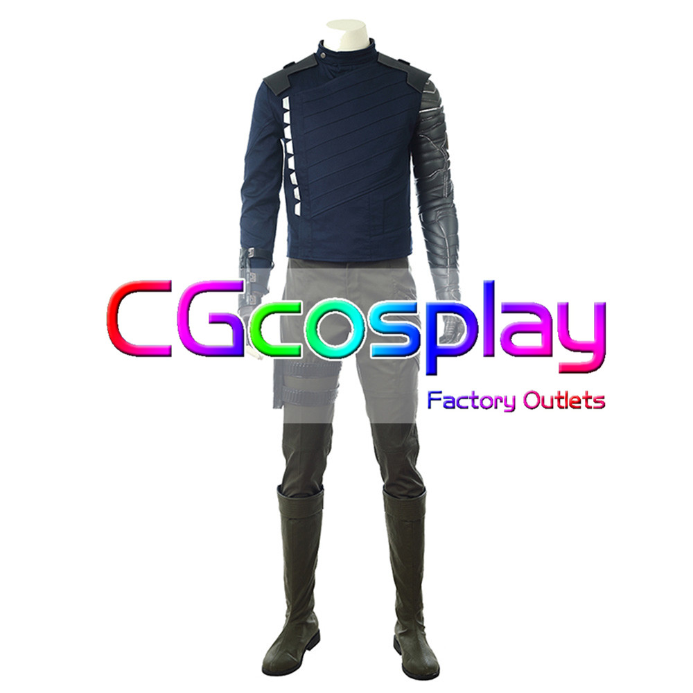CGCOS Avengers: Infinity War Winter Soldier Bucky Barnes Uniform Manga Anime Game Cosplay Costume Halloween