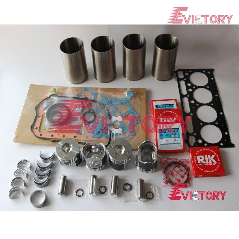 Para Kubota V2403 V2403-M-DI V2403-DI-T V2403M pistão + anel + camisa do cilindro + rolamento + junta kit