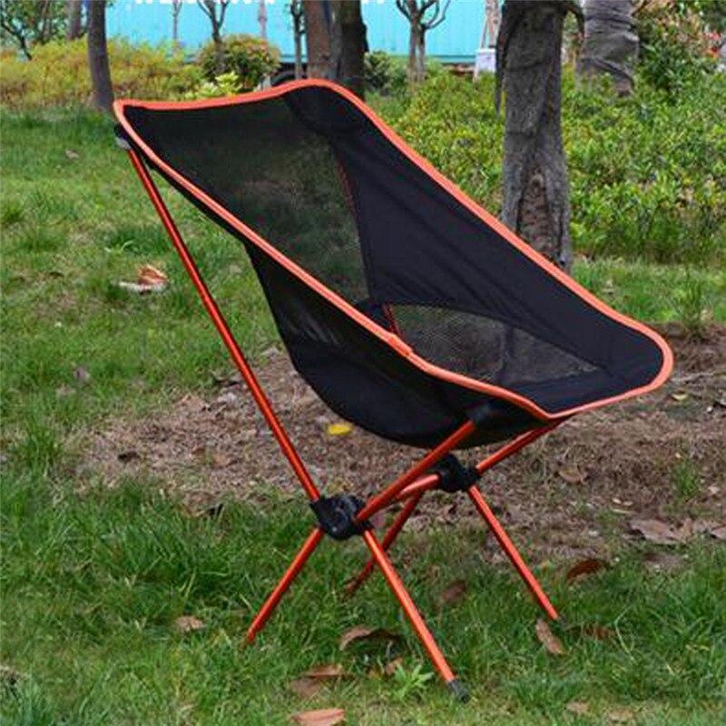 Noir orange portable léger pliant camping tabouret chaise siège pour la pêche picnic festival barbecue sur la plage avec sac