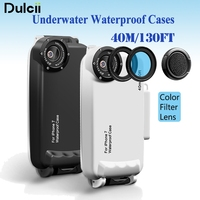 Dulcii For Apple IPhone 7 37mm Complete Graduated Color Filter Lens IPX8 Waterproof Diving Case For