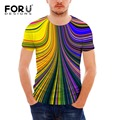 2017 Más Nueva iluminación de diseño masculina impreso creativo camiseta 3d camiseta del verano masculino novedad psicodélico t-shirt ropa de marca