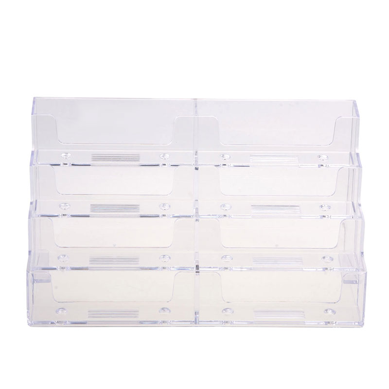 Practical New 8 Pocket Desktop Clear Acrylic Business Card Holder ...