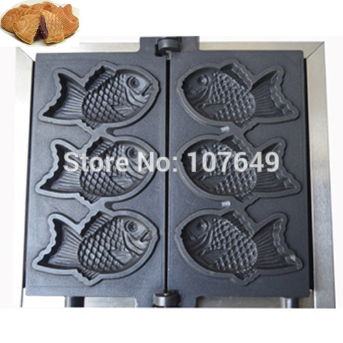 Free Shipping to USA/Canada/Japan/Mexico 3pcs Commercial Use Electric 110v Fish Waffle Taiyaki Baker Maker Iron Machine donut making frying machine with electric motor free shipping to us canada europe