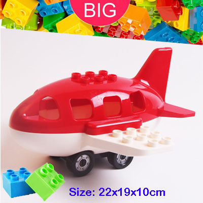 Large Building Block Fit Duplo Parts Midsize Airplane Classic Piece Big Dot Brick Accessory Bricklink ToyLarge Building Block Fit Duplo Parts Midsize Airplane Classic Piece Big Dot Brick Accessory Bricklink Toy