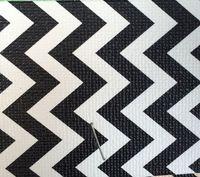 合成pvc黒と白正規曲線プリント革素材