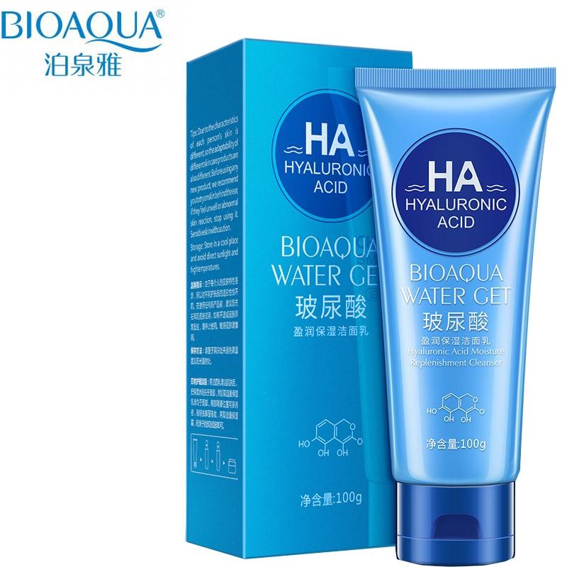Bioaqua Hyaluronic Acid Rice Real Pastrues Pastrues Kujdesi për Kozmetikë për Lëkurën e Koresë 150ml
