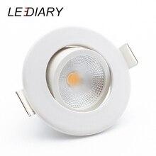 цены LEDIARY COB LED Downlights Real 3W 5W 110V-240V White Ceiling Spot Lamp 2.2 Inch 55mm 75mm Cut Hole No Flicker Lighting Fixtures