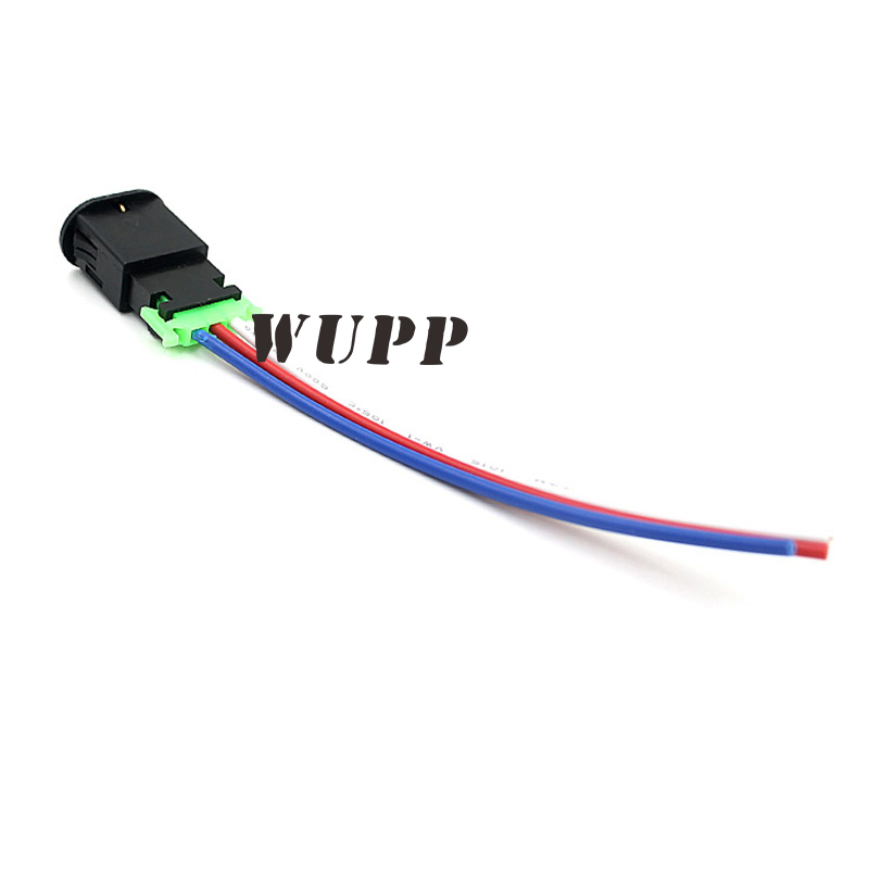 WUPP Motorcycle Switch Hazard Light Switch Red Button Warning Signal Lamp Flasher 3 Wires Double Flash Switch Built-In Lock