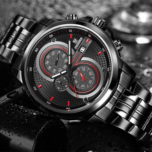 CADISEN Brand The New luxury Chronograph Mens Sport Waterproof Casual Watches Quartz Fashion Watch Relogio Masculino