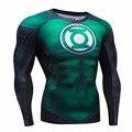 2016 otoño invierno camisa de compresión de fitness clothing cothing marca para hombres de secado rápido de malla transpirable 3d hombres crossfit s-2xl