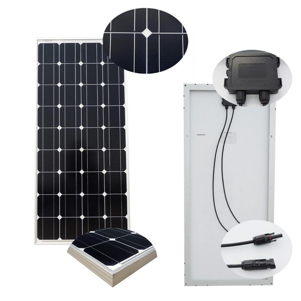 550USD For 5PCS 100W Mono Solar Panel