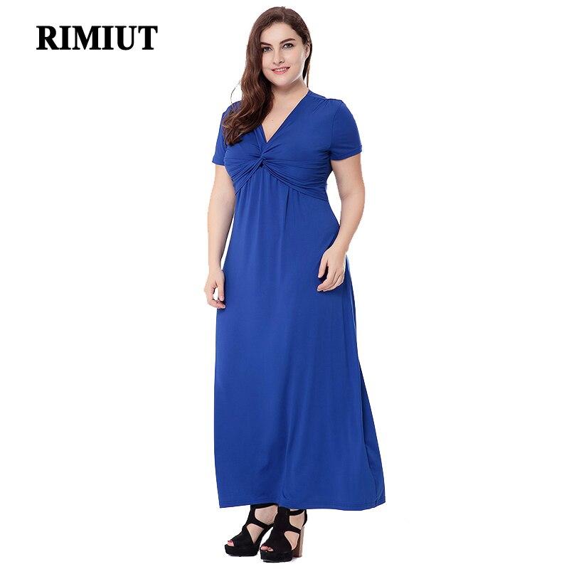 2fe79e5054 L 6xl tamaño grande más las mujeres ocasionales formales verano leche seda  vestido elegante manga corta V cuello largo Vestidos partido Fat MM ropa en  ...