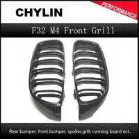 1 Pair Gloss Black Front Kidney Grille Double Slat M4 Sport Style Grill for BMW F32 F33 F36 F82 Cabriolet Coupe