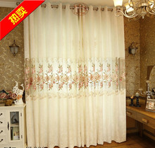 Modern Jacquard White Blackout Embroidered Voile Tulle Sheer Luxury Curtains Living room Girls Bedding room cortinas para sala
