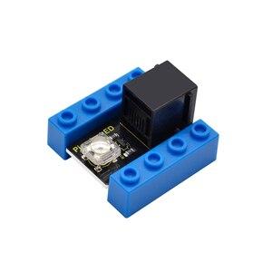 Image 2 - Kidsbits كتل الترميز سمكة البيرانا LED وميض وحدة لاردوينو البخار EDU (أسود و صديقة للبيئة)