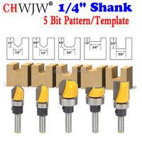 Trim Router Bit Set 1 4 Shank 5 Bit Pattern Template