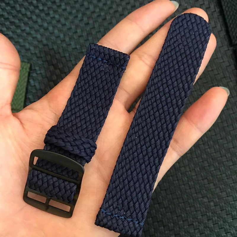 Нейлоновая тканая группа часов, цветной сменный ремешок с пряжкой для часов Perlon 20 22 мм для Xiaomi Huami Amazfit Pace Bracelet 22m