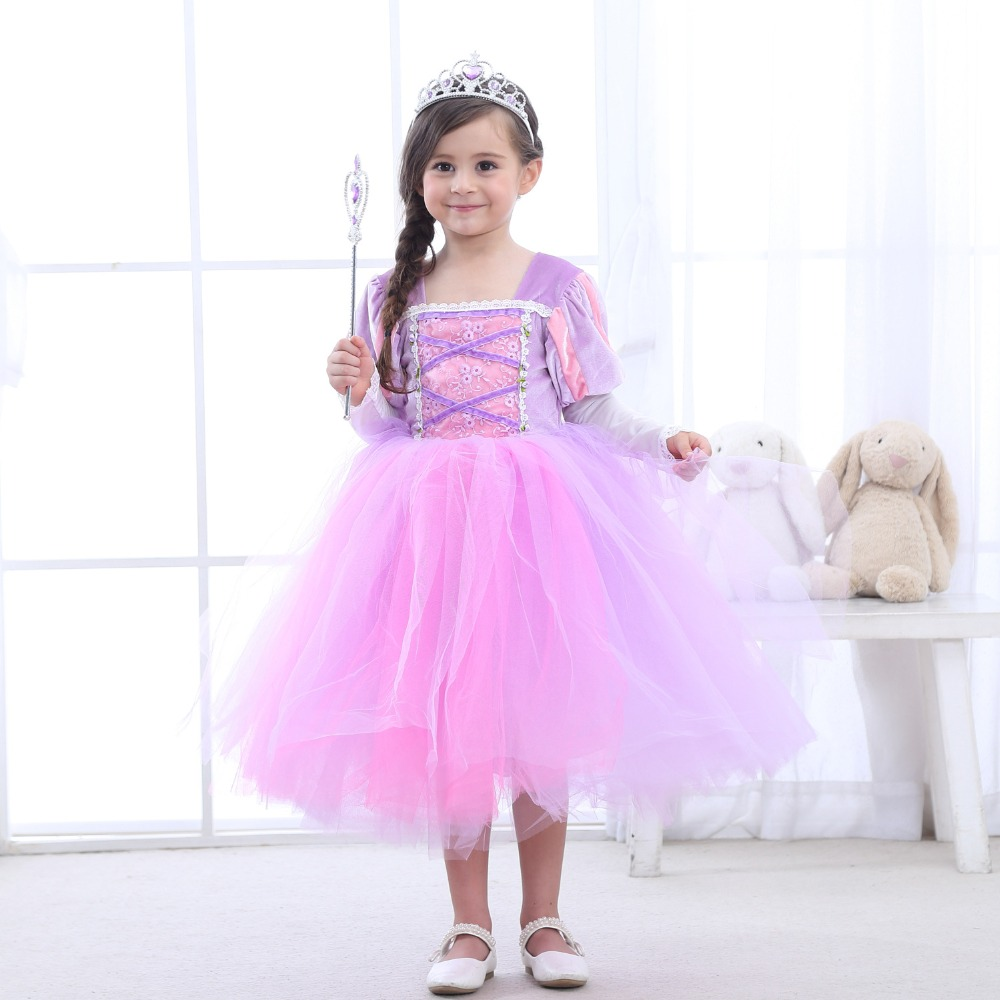 2018 Best Quality Sofie Princess Summer Dress Girls Sofia Cosplay Costume 6 Layers Children Kids Floral Halloween Party Dress