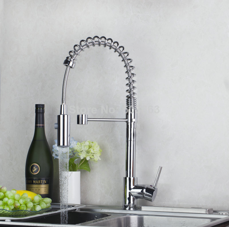 Torayvino Delicate Kitchen Faucet Chrome Polished Deck Mounted Single Handle Single Hole Hot Cold Water Eminent
