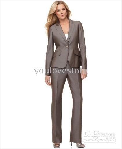 Desinger Gray Women Suit Women Skirt Suit Women Career Suit 334