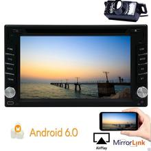 Camera included! Android 6.0 Car Stereo gps Din GPS Navigation Vehicle Radio Receiver DVD Player supports 1080P OBD2 WIFI 3G/4G
