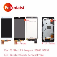 4 6 For Sony Xperia Z3 Mini Z3 Compact D5803 D5833 Full Lcd Display With Touch