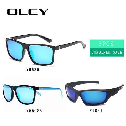 3PCS Combined Sale OLEY High quality polarized men sunglasses  popular combo for 2019 Lahore