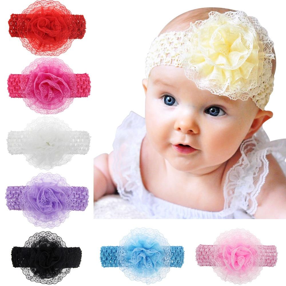 1 Piece MAYA STEPAN New Lace Flower Children Girls Hair Head Band Accessories Baby Newborn Hair Rope Headband Headwear Headwrap