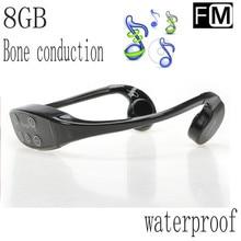 2017 impermeable mp3, deportes auriculares de conducción ósea natación musci jugador del envío libre