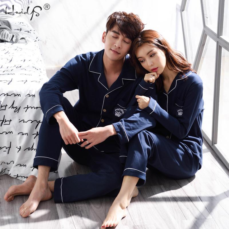 Winter Couples Pajamas Set For Women Men Long Sleeve Pajamas Set Male Sleep Clothing Sleepwear Men Pyjamas Suit Autumn Pijamas