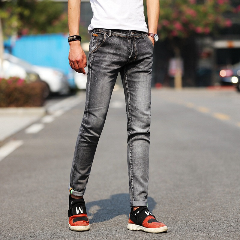 ICPANS fashion   jeans   Men Stretch light color   jeans   casual straight Multicolor skinny   jeans   men Slim Fit denim trousers