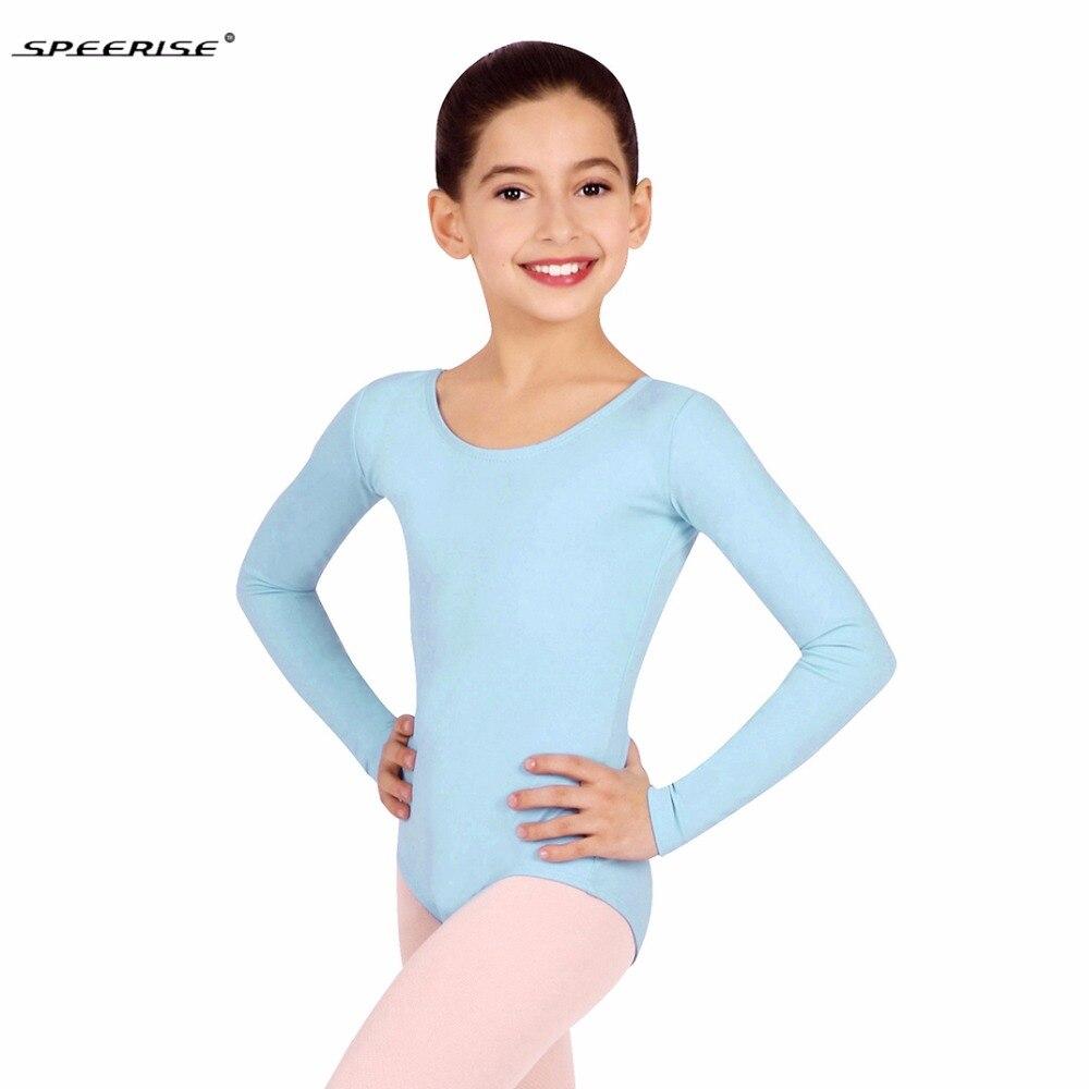 026b03438f382 Speerise Toddler Long Sleeve Gymnastics Leotard for Girls Lycra Spandex  One-piece Leotards Bodysuit Ballet