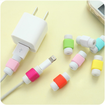 USB Cable Protector Colorful Cover Case For Apple Iphone 7 7 Plus 6 6S 5 5S SE 4 4S Case Charger Data Cable Earphone Accessories image