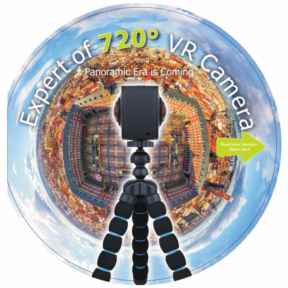 Camera Video Camera Shooting Photo Panoramic 720 Degree Outdoor Portable Panorama Dual Lens 20MP 4K HD WiFi Cam Camcorder 2018
