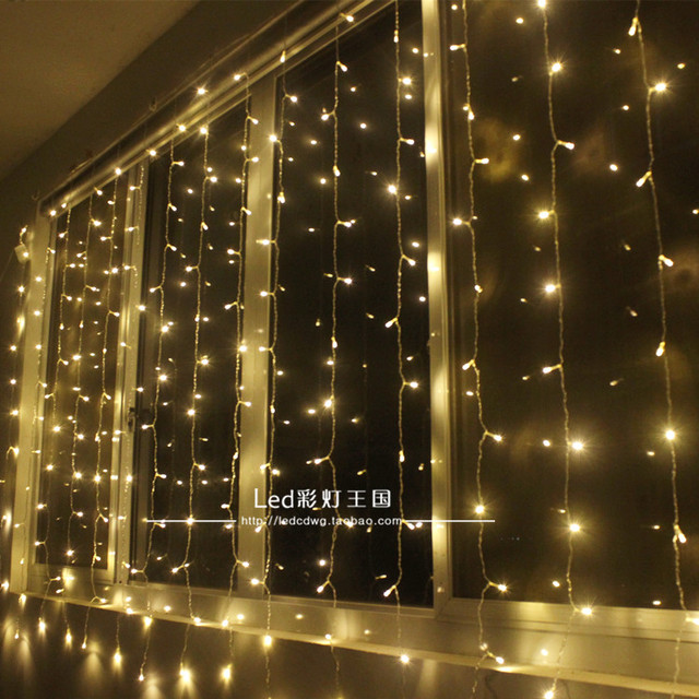 A1 cortina cortina Do palco luz das estrelas LEVOU pequenas luzes piscando lâmpada de cordas do Feriado Do Natal Decoração Do Casamento Do Jardim