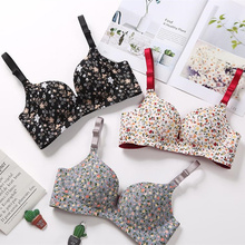Seamless girl bra cotton lingerie comfortable push up bra fashion sexy women underwear brassiere Floral bralette adjustable bra цена