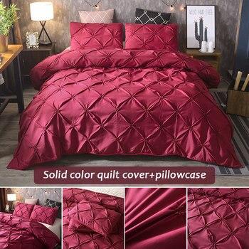 SOLEDI Bedding Sets Gift 3pcs Luxury Bed Duvet Cover Bedding Cover Set Home Hotel Duvet Cover Sets Pillow Case Home Furnishing дамски часовници розово злато