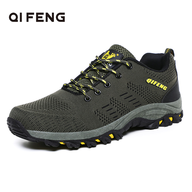 2019 Men Fashion Outdoor Sports Hiking Shoes Classic Breathable Trekking Footwear Plus Size Casual Sneakers Rock