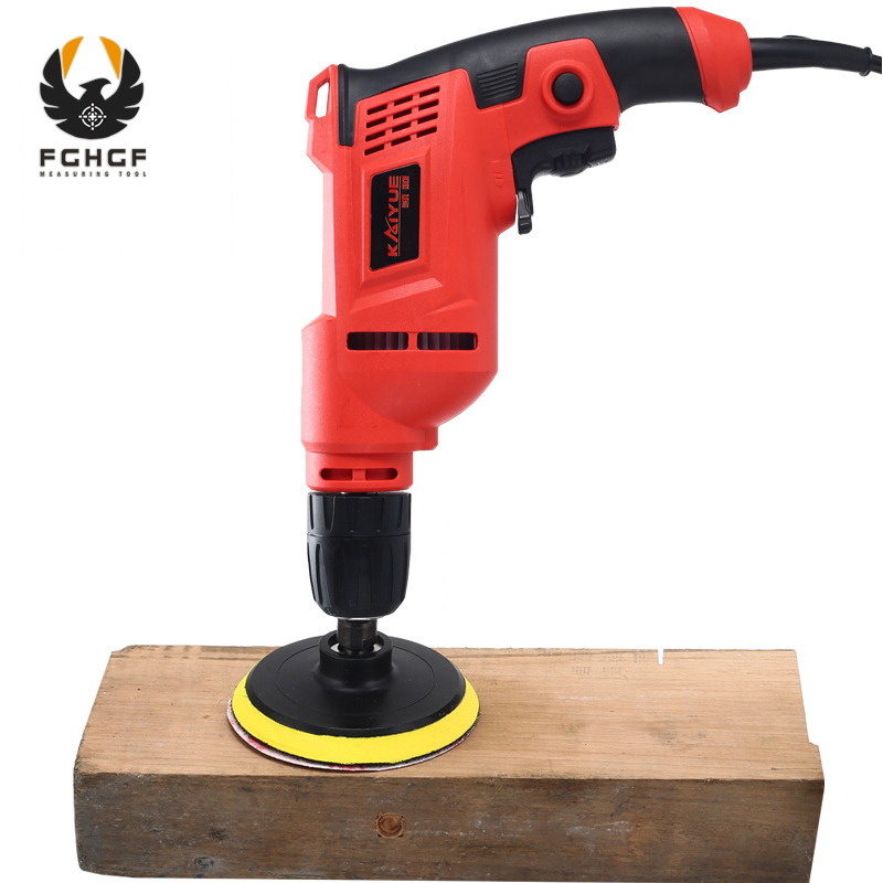 FGHGF 2in1 220V Household Multi-function Electric Drill AC Power Tools Hand Tools Pistol Drill And Polisher