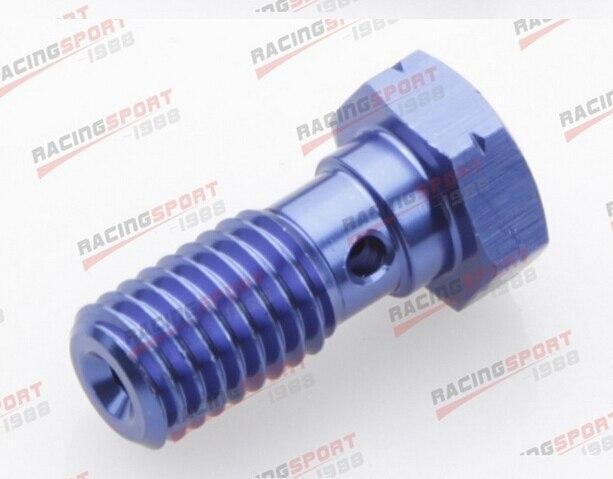 Banjo Bolt M16*1.5 Aluminium Banjo Bolt Brake Caliper Adaptor AD63008 Blue