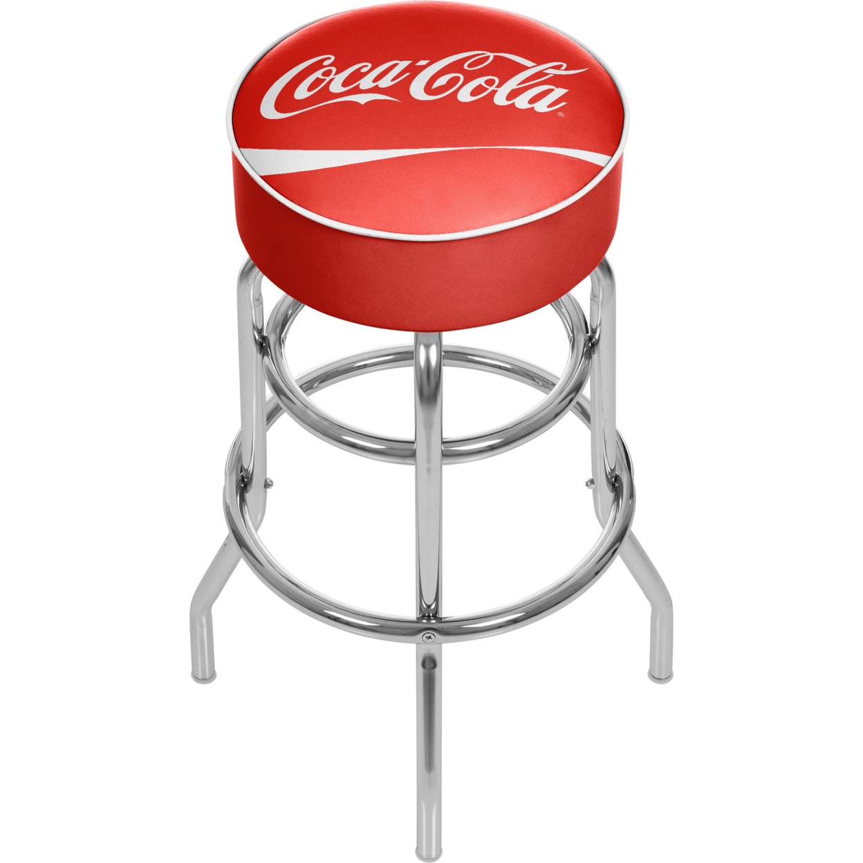 Coca Cola Padded Swivel Bar Stool 30 Inches High ...