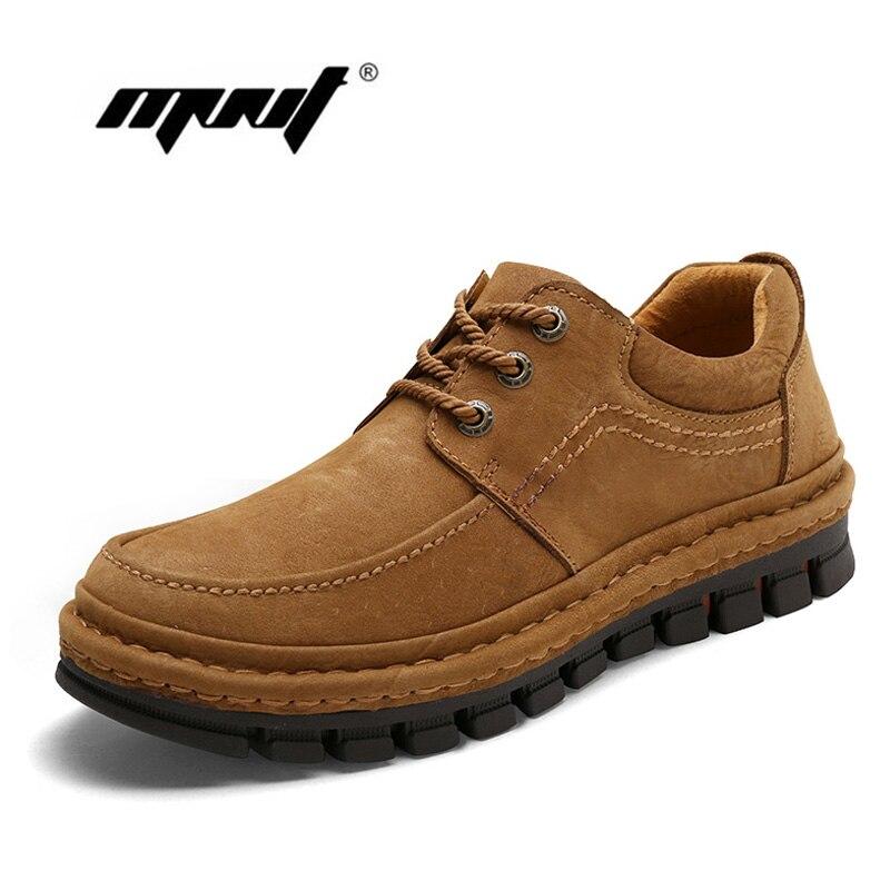 Мужская обувь из натуральной коровьей кожи на шнуровке, винтажные мужские ботильоны высокого качества, осенняя непромокаемая обувь для муж...