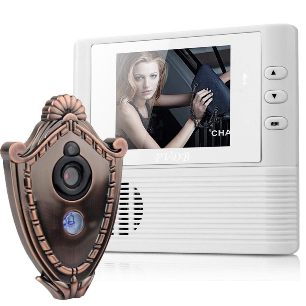 2.8 inch Lcd digital Screen Video Doorbell 3MP pixel Camera Doorbell Cat's eye peephole viewer 3X Zoom Home Security door phone eye sight es nvc802w 3 5 screen 1 4 cmos 0 3mp network video phone call ip camera black white