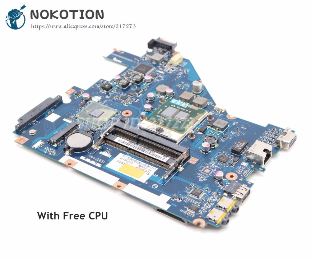NOKOTION For Acer aspire 5742 5733 5742Z 5733Z Laptop Motherboard MBRJY02002 PEW71 LA-6582P HM55 UMA DDR3
