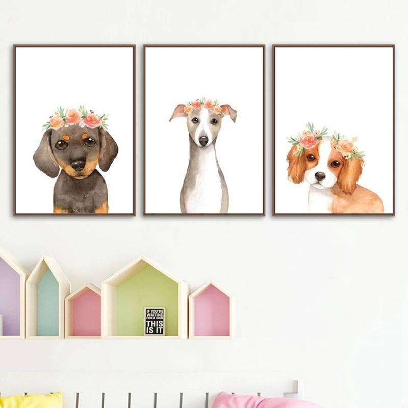 otterhound dog 8x10 art print poster watercolor painting